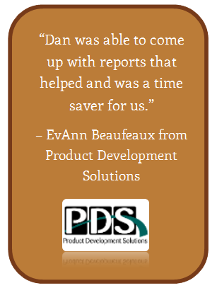 Product Development Solutions Testimonial